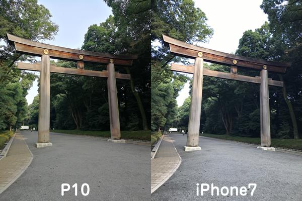 P10とiPhone7カメラ比較2