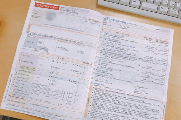 中島なかじの恋人の生命保険の契約内容