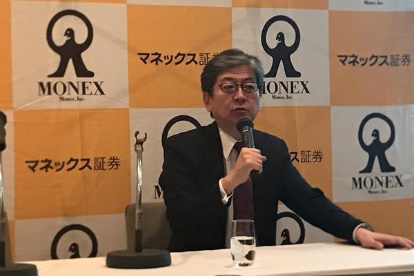 「日経平均3万円」の見解を語るマネックス証券の松本社長