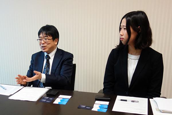 成長企業への投資について語るSBI証券の橋本さん