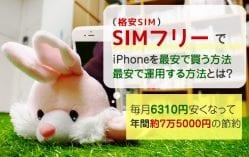 SIMフリーのiPhoneを最安で買う&運用する方法