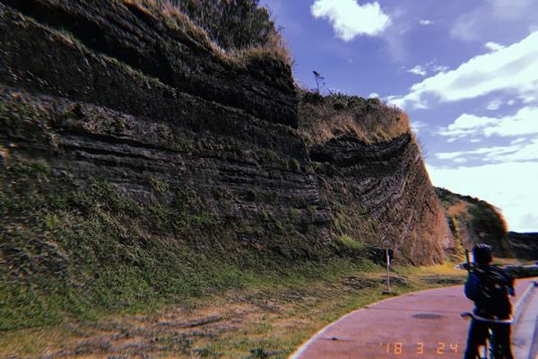 伊豆大島のバウムクーヘン地層
