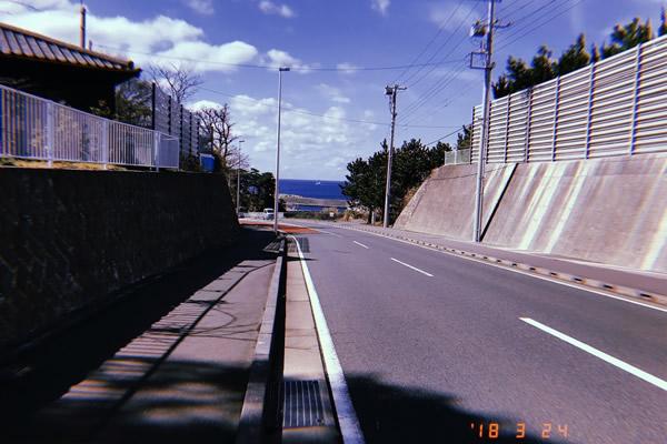 伊豆大島一周コース。道がキレイ