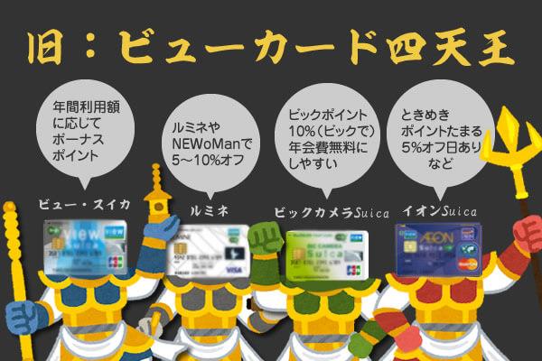 ビューカード四天王(JRE CARDを除く)