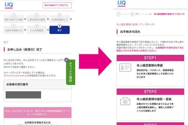 UQモバイルの申し込み方法3