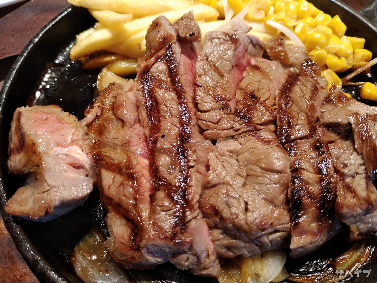 Rakuten Miniでステーキを撮影