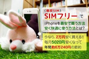 SIMフリーのiPhoneを安く買う方法|格安SIMのセット割
